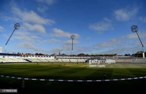 General view of play during the Rachael Heyhoe Flint Trophy Final between Southern Vipers and Northern Diamonds at Edgbaston on September 27, 2020 in...
