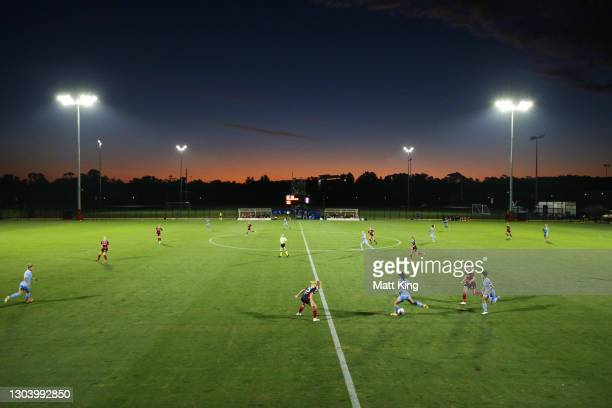 General view of play during the round 10 W-League match between the Western Sydney Wanderers and Melbourne City at Wanderers Football Park, on...