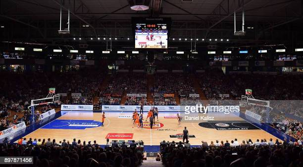 A general view of play during the round 11 NBL match between the Adelaide 36ers and the Cairns Taipans at Titanium Security Arena on December 24 2017...