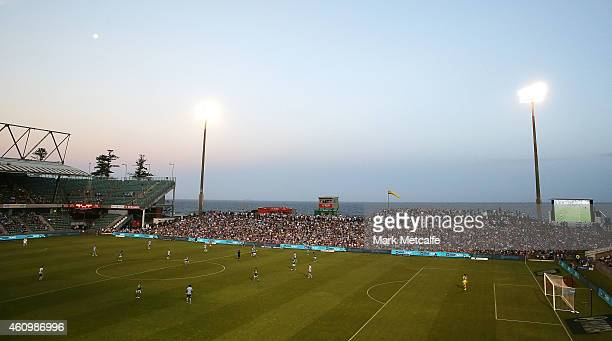 General view of play during the round 15 A-League match between Sydney FC and Newcastle Jets at WIN Stadium on January 3, 2015 in Wollongong,...
