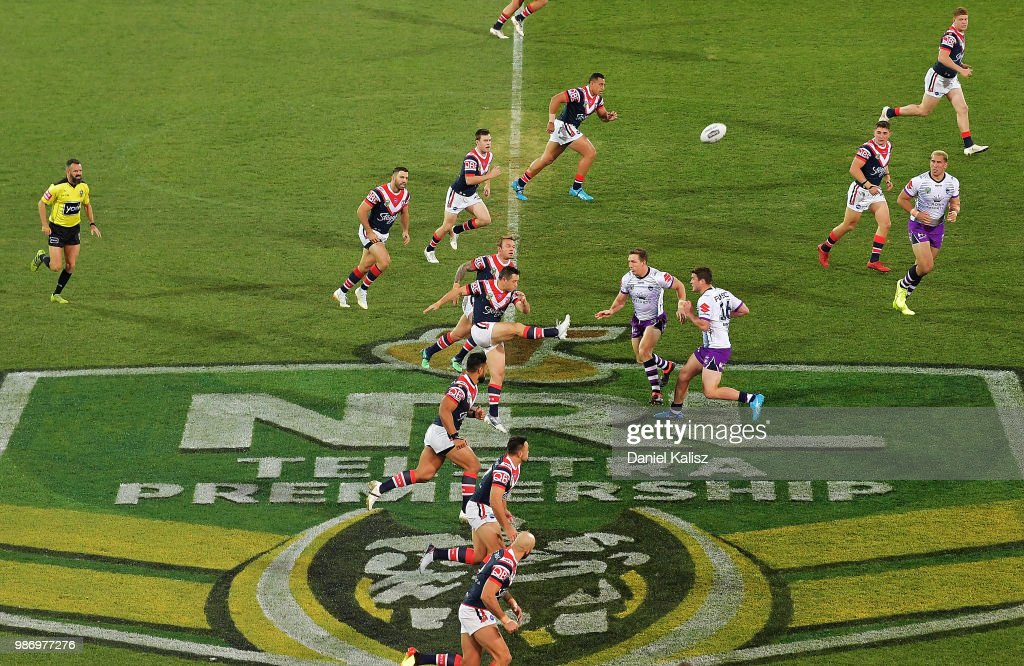 NRL Rd 16 - Roosters v Storm : News Photo