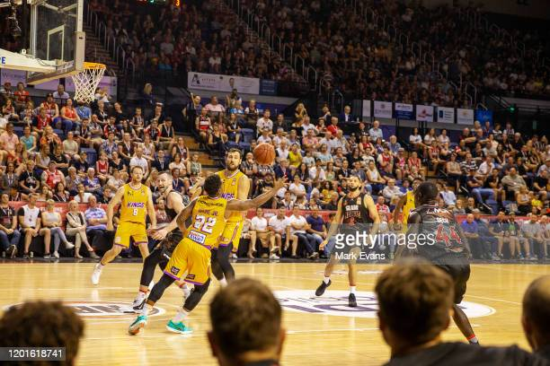 General view of play during the round 17 NBL match between the Illawarra Hawks and the Sydney Kings at WIN Entertainment Centre on January 24, 2020...