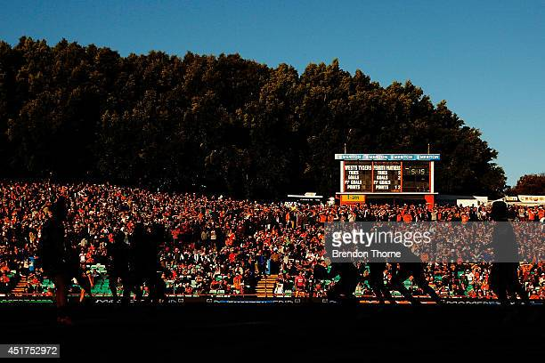 A general view of play during the round 17 NRL match between the Wests Tigers and the Penrith Panthers at Leichhardt Oval on July 6 2014 in Sydney...
