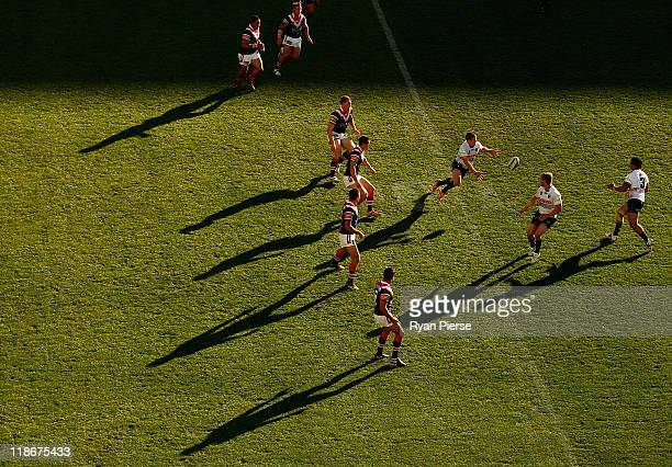A general view of play during the round 18 NRL match between the Sydney Roosters and the Penrith Panthers at the Sydney Football Stadium on July 10...