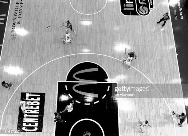 General view of play during the round nine NBL match between the Townsville Crocodiles and the Wollongong Hawks at Townsville Entertainment Centre on...