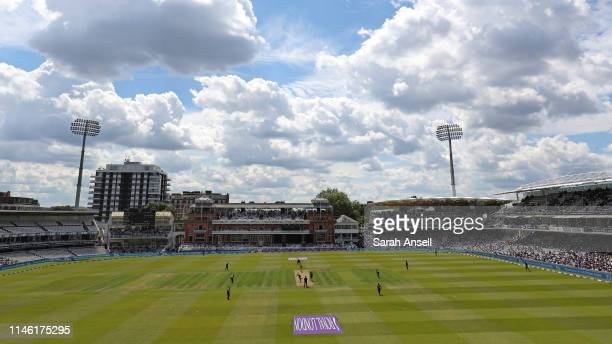 A general view of play during the Royal London One Day Cup Final match between Somerset and Hampshire at Lord's Cricket Ground on May 25 2019 in...