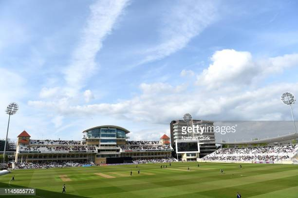General view of play during the Royal London One Day Cup match between Yorkshire and Nottinghamshire at Trent Bridge on April 28, 2019 in Nottingham,...