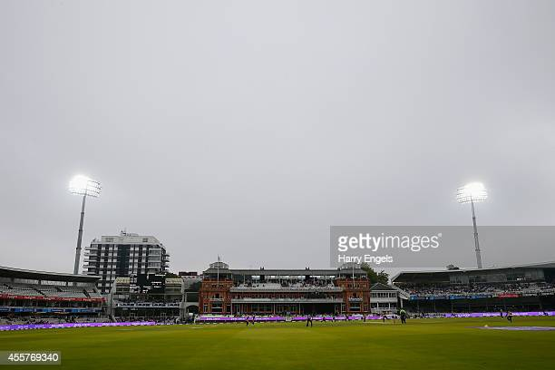 A general view of play during the Royal London OneDay Cup Final between Warwickshire and Durham at Lord's Cricket Ground on September 20 2014 in...