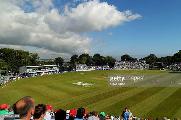 A general view of play during the RSA Challenge One Day International match between Ireland and England on September 3 2013 in Malahide Ireland