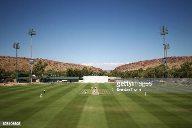 A general view of play during the Sheffield Shield final between Victoria and South Australia on March 27 2017 in Alice Springs Australia
