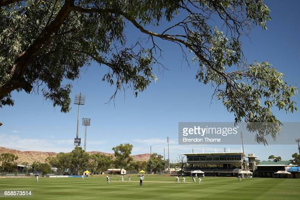 A general view of play during the Sheffield Shield final between Victoria and South Australia on March 28 2017 in Alice Springs Australia