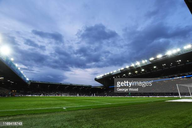 A general view of play during the Sky Bet Championship match between Leeds United and Brentford at Elland Road on August 21 2019 in Leeds England