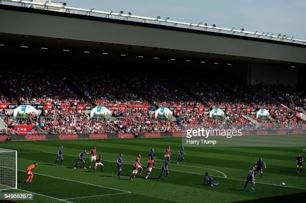 General view of play during the Sky Bet Championship match between Bristol City and Hull City at Ashton Gate on April 21 2018 in Bristol England