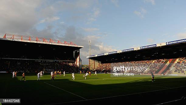 General view of play during the Sky Bet League One match between Bradford City and Tranmere Rovers at Coral Windows Stadium Valley Parade on October...