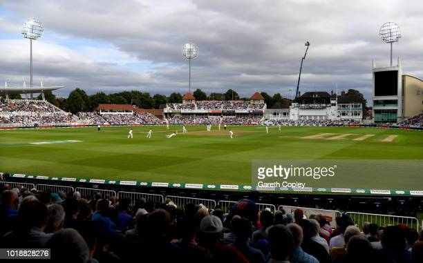 General view of play during the Specsavers 3rd Test match between England and India at Trent Bridge on August 18, 2018 in Nottingham, England.