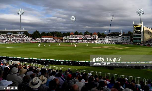 General view of play during the Specsavers 3rd Test match between England and India at Trent Bridge on August 18 2018 in Nottingham England