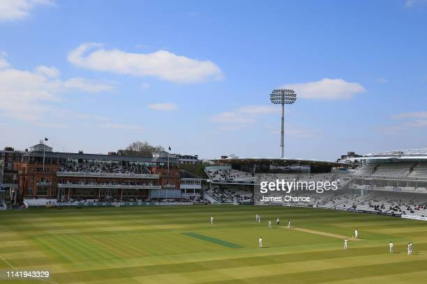 A general view of play during the Specsavers County Championship Division Two match between Middlesex and Lancashire at Lord's Cricket Ground on...