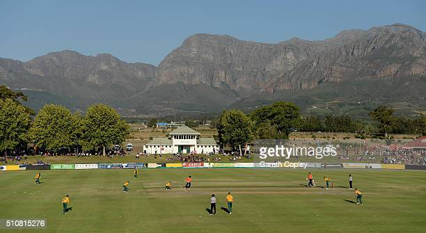 General view of play during the T20 Tour Match between South Africa Invitation XI and England at Boland Park on February 17 2016 in Paarl South Africa