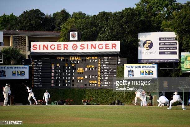 General view of play during the tour match between SLC Board President's XI and England at P Sara Oval on March 12, 2020 in Colombo, Sri Lanka.