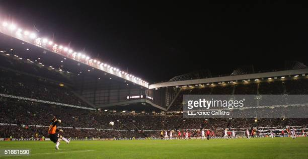 A general view of play during the UEFA Champions League Group D match between Manchester United and AC Sparta Prague at Old Trafford on November 3...