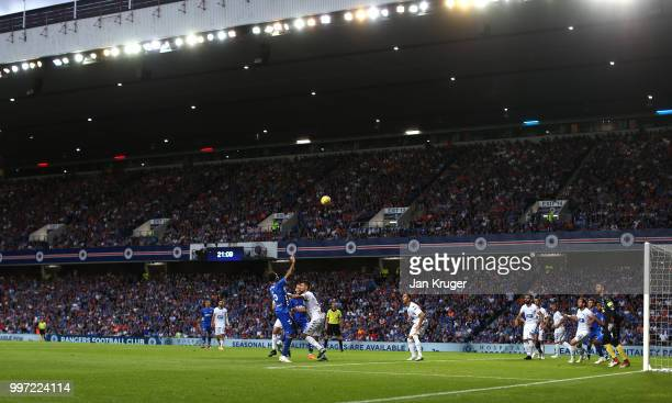 General view of play during the UEFA Europa League Qualifying Round match between Rangers and Shkupi at Ibrox Stadium on July 12 2018 in Glasgow...