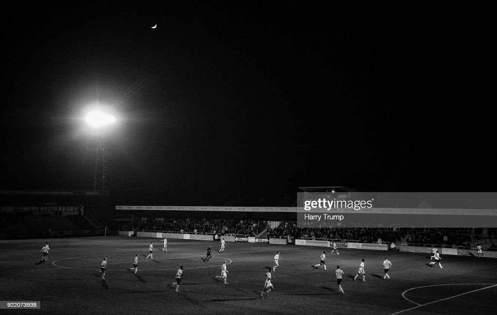 General view of play during the Vanarama National League match between Torquay United and Sutton United at Plainmoor on February 20, 2018 in Torquay, England.