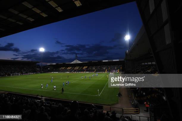 General view of play during the Vanarama National League match between Notts County and Stockport County at Meadow Lane on August 06, 2019 in...