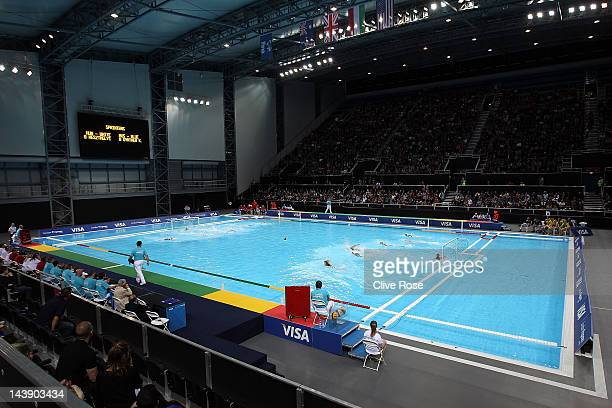 A general view of play during the Visa Water Polo International test event match between Hungary and Australia ahead of the London 2012 Olympic Games...