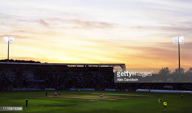 General view of play during the Vitality Blast match between Hampshire and Middlesex at Ageas Bowl on August 29, 2019 in Southampton, England.