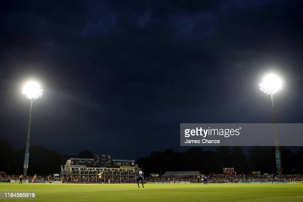 General view of play during the Vitality Blast match between Kent Spitfires and Essex Eagles at The Spitfire Ground on July 26 2019 in Canterbury...