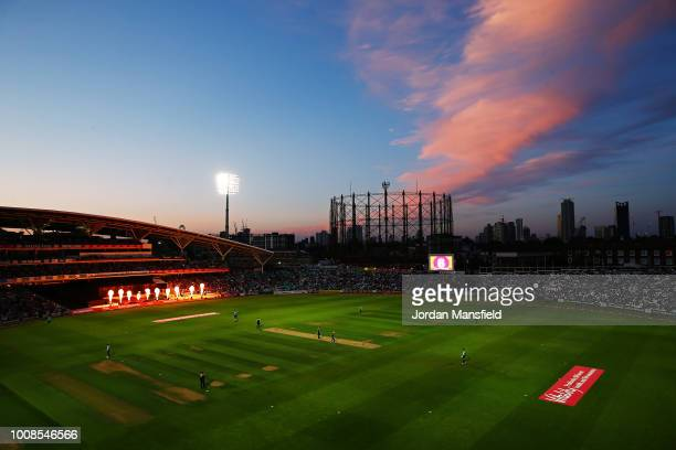 General view of play during the Vitality Blast match between Surrey and Glamorgan at The Kia Oval on July 31, 2018 in London, England.