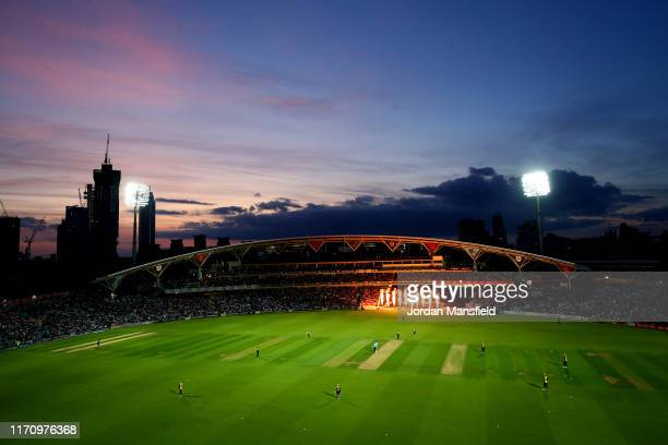 A general view of play during the Vitality T20 Blast match between Surrey and Essex Eagles at The Kia Oval on August 29 2019 in London England