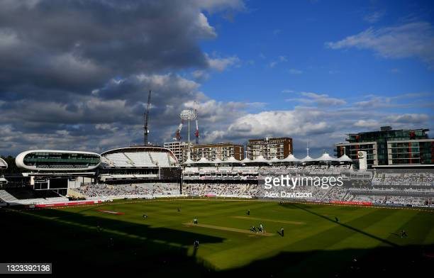General view of play during the Vitality T20 Blast match between Middlesex and Surrey at Lord's Cricket Ground on June 10, 2021 in London, England.