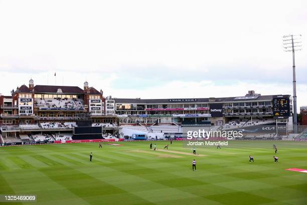 General view of play during the Vitality T20 Blast match between Surrey and Middlesex at The Kia Oval on June 25, 2021 in London, England.