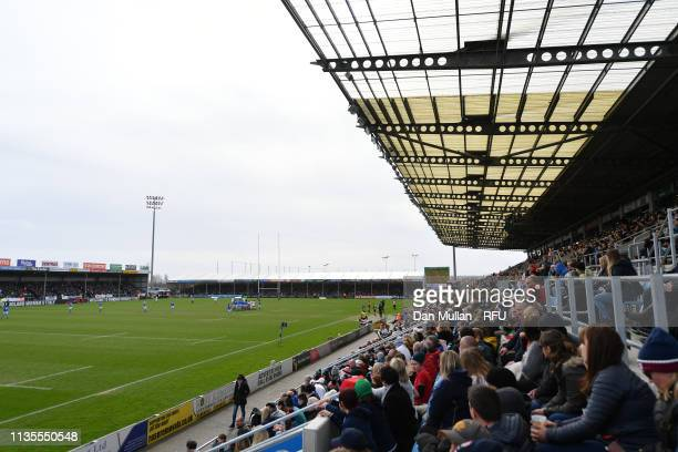 A general view of play during the Womens Six Nations match between England and Italy at Sandy Park on March 09 2019 in Exeter England