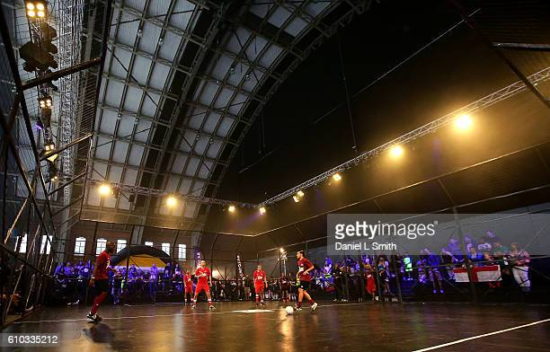 A general view of play during the World Street Soccer Championship match between Netherlands and Belgium during the Soccerex Football Festival 2016...
