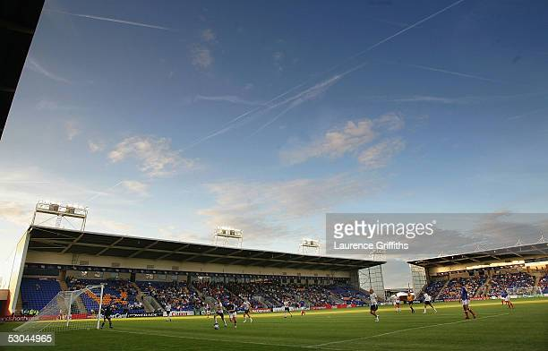 A general view of play during UEFA Womens Championship Group Phase Group B match between France and Norway at Halliwell Jones Stadium on June 9 2005...
