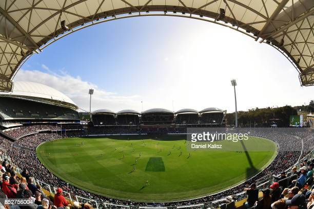 A general view of play from the Max Basheer Stand during the SANFL Grand Final match between Port Adelaide and Sturt at AAMI Stadium on September 24...