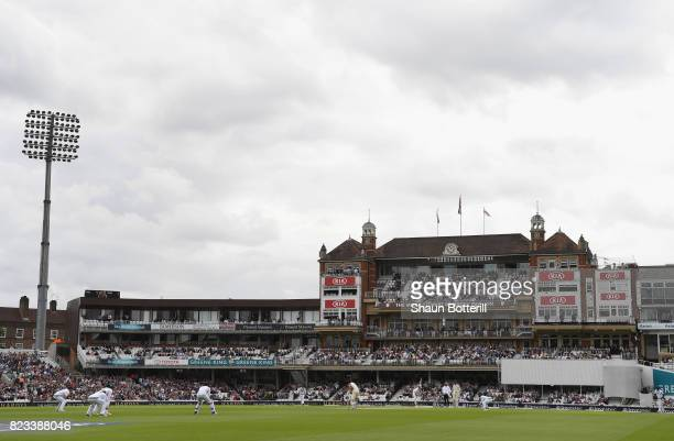 General view of play in front of the Micky Stewart Member's Pavilion during the 3rd Investec Test match between England and South Africa at The Kia...