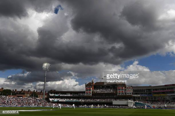 A general view of play in front of the Micky Stewart Member's Pavilion during the 3rd Investec Test match between England and South Africa at The Kia...