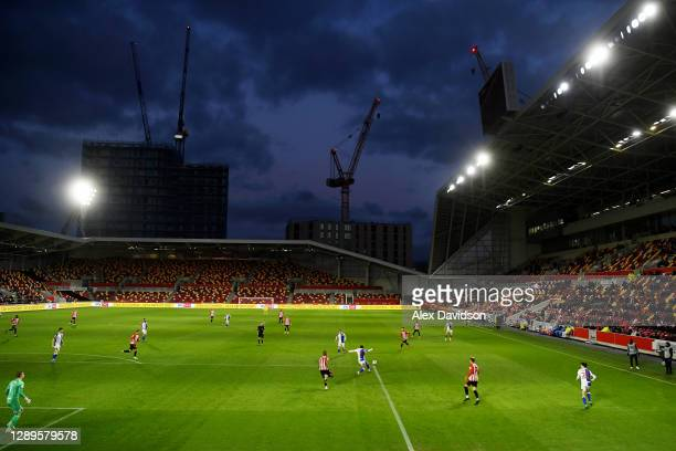 General view of play is seen during the Sky Bet Championship match between Brentford and Blackburn Rovers at Brentford Community Stadium on December...