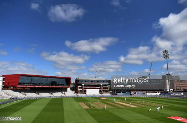 General view of play overlooked by the Hilton Hotel during Day Four of the 2nd Test Match in the #RaiseTheBat Series between England and The West...