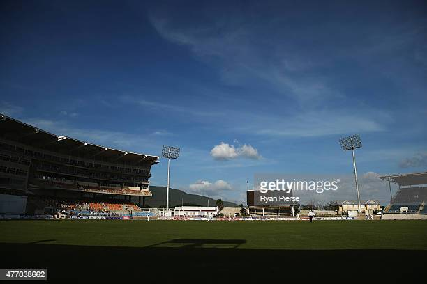 A general view of playduring day three of the Second Test match between Australia and the West Indies at Sabina Park on June 13 2015 in Kingston...