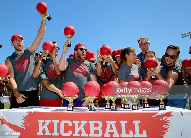 A general view of players during Kickball For A Home Celebrity Challenge presented by Dave Thomas Foundation For Adoption at USC on August 16 2014 in...