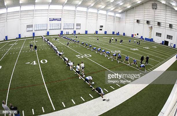 General view of players during rookie training camp at the Detroit Lions Headquarters and Training Facility on May 3, 2008 in Allen Park, Michigan.