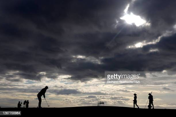 General view of Players on the 17th green during Day Three of the AIG Women's Open 2020 at Royal Troon on August 22, 2020 in Troon, Scotland.