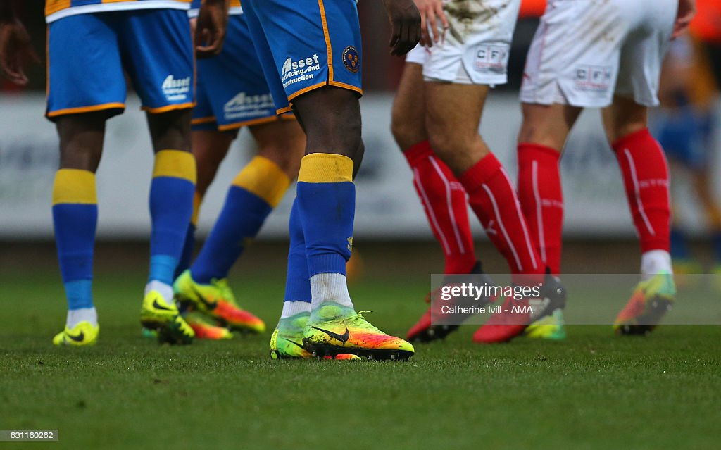 52e89505c5 General view of players wearing Nike and Adidas boots during the Sky ...