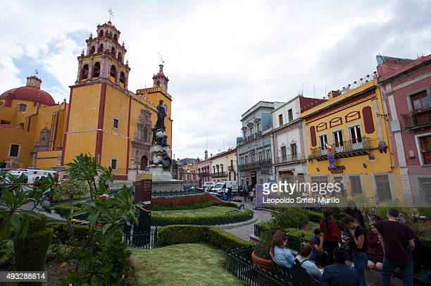 General view of Plaza de la Paz during the 43° Edition of International Guanajuato Cervantino Festival on October 17 2015 in Guanajuato Mexico