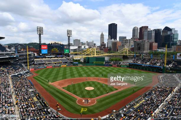 A general view of PNC Park during a game between the San Diego Padres and the Pittsburgh Pirates on Sunday May 20 2018 in Pittsburgh Pennsylvania