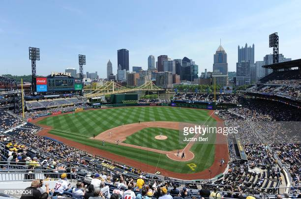 A general view of PNC Park during the game between the Pittsburgh Pirates and the Los Angeles Dodgers on June 7 2018 in Pittsburgh Pennsylvania